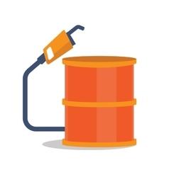 Oil barrel with gas pump vector