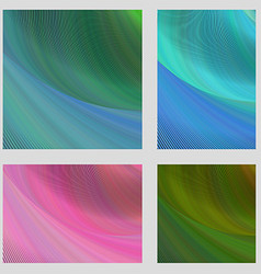 Psychedelic brochure background set vector
