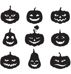 pumpkin set vector image vector image
