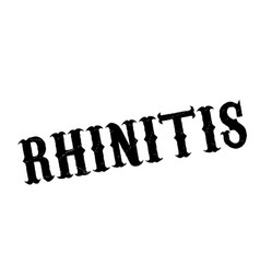 Rhinitis rubber stamp vector