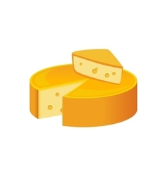 Round cheese head milk based product isolated vector