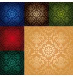 set seamless wallpaper pattern vector image