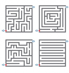 small mazes vector image vector image