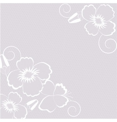 Vintage abstract background with white lace vector image