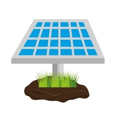 Panel solar energy isolated icon vector