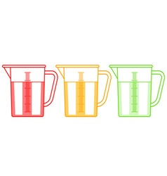 Measuring jugs set vector