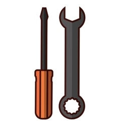 Wrench and screwdriver icon image vector
