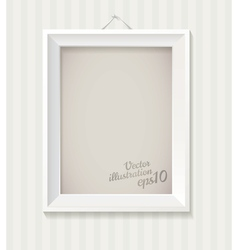 White empty frame hanging on the wall eps 10 vector