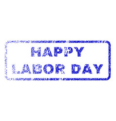 Happy labor day rubber stamp vector