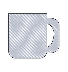 Drawing ceramics mug coffee handle vector