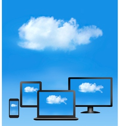 Cloud computing concept All computer devices and vector image