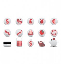financial buttons vector image