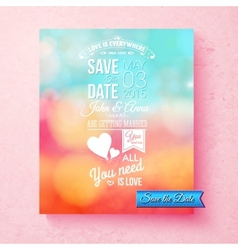 Save the date wedding invitation template vector