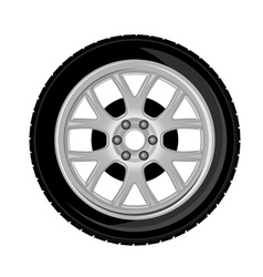 Wheel and tire vector