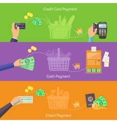 Concepts for online shopping delivery and payment vector