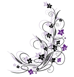 Flowers grass vector