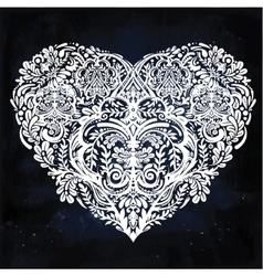 Lace heart art vector
