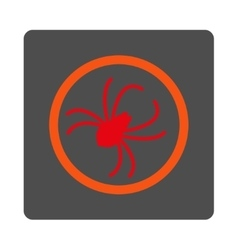 Spider rounded square button vector