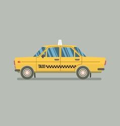 Flat Design Yellow Taxi vector image