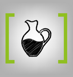 amphora sign black scribble icon in vector image vector image