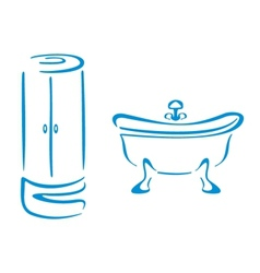 Bathroom symbols vector