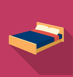 Bed icon in flate style isolated on white vector