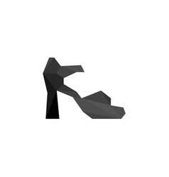 Black women shoes in polygonal style vector