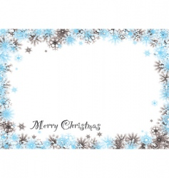 Christmas snow background vector image vector image