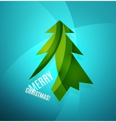 Christmas tree modern geometric design vector
