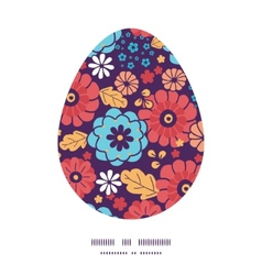 Colorful bouquet flowers easter egg vector