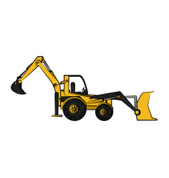 construction heavy machinery icon image vector image