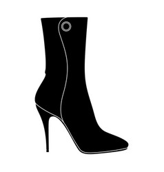 demi tall womens boots high heeldifferent shoes vector image