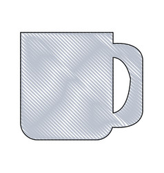 Drawing ceramics mug coffee handle vector