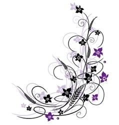 Flowers grass vector