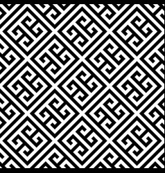 Greek key seamless pattern background in black and vector