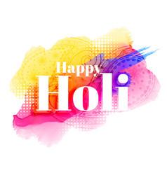 happy holi greeting background design vector image