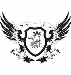 heraldry retro shield vector image vector image