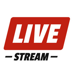 Hot live stream icon flat style vector