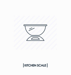 kitchen scale outline icon isolated vector image vector image