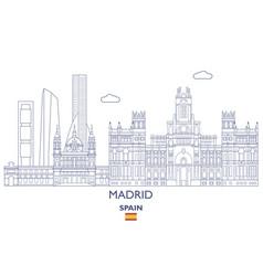 Madrid city skyline vector