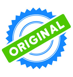 original stamp flat icon vector image vector image