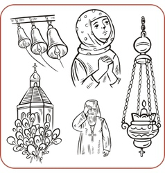 Orthodox religion - vector image vector image