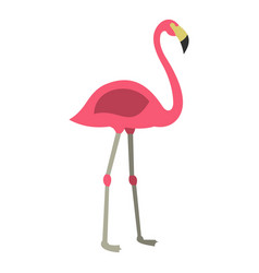 pink flamingo icon isolated vector image