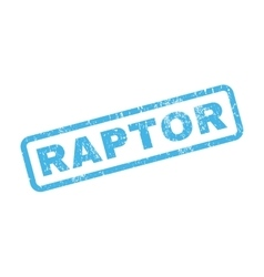Raptor rubber stamp vector