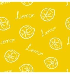 Seamless pattern yellow lemon vector
