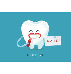 Smile tooth vector image vector image