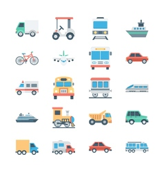 Transports Colored Icons 1 vector image vector image