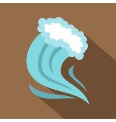 Tsunami icon cartoon style vector