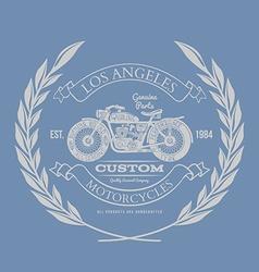 Vintage Motorcycle T-shirt Design vector image vector image