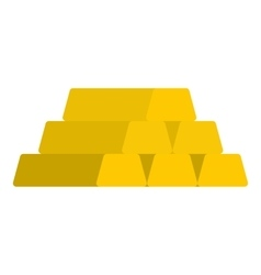 Gold bar icon flat style vector
